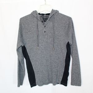 Calvin Klein Jeans Gray and Black Hoodie Size M